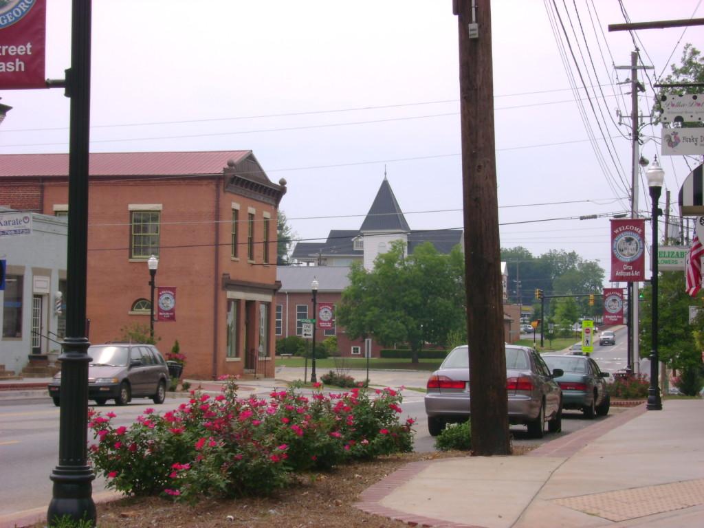 Main Street in Watkinsville, GA